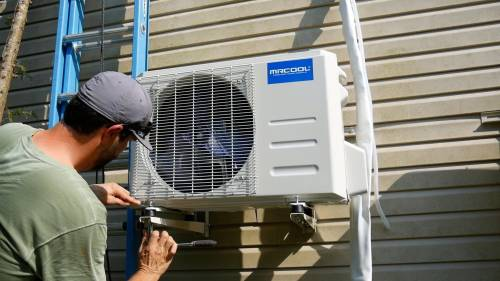 small resolution of how to install a mini split outside condenser unit secure footing