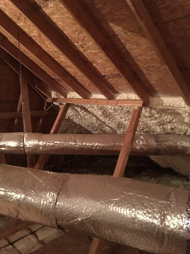 medium resolution of spray foam attic install