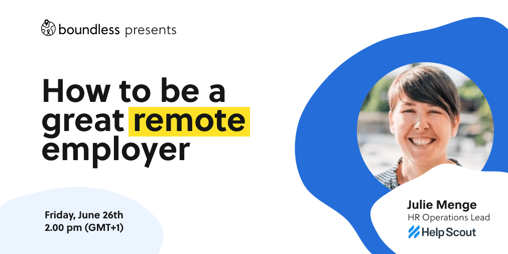 How to be a Great Remote Employer Online Meetup