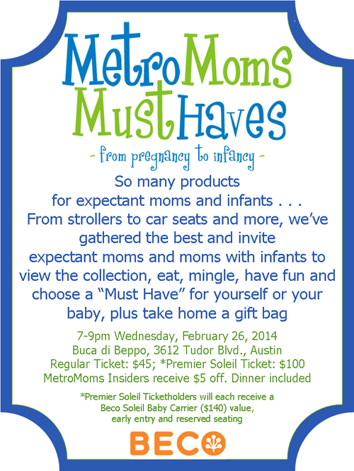 Metro Moms Must haves
