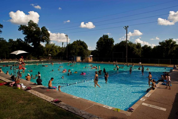 Deep Eddy Pool provides relief from the hot Austin Summer heat