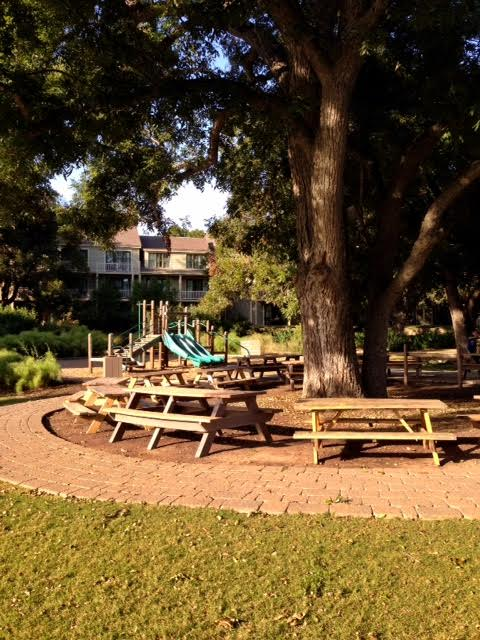 Plenty of picnic tables in the shade so you can keep an eye on your babies.