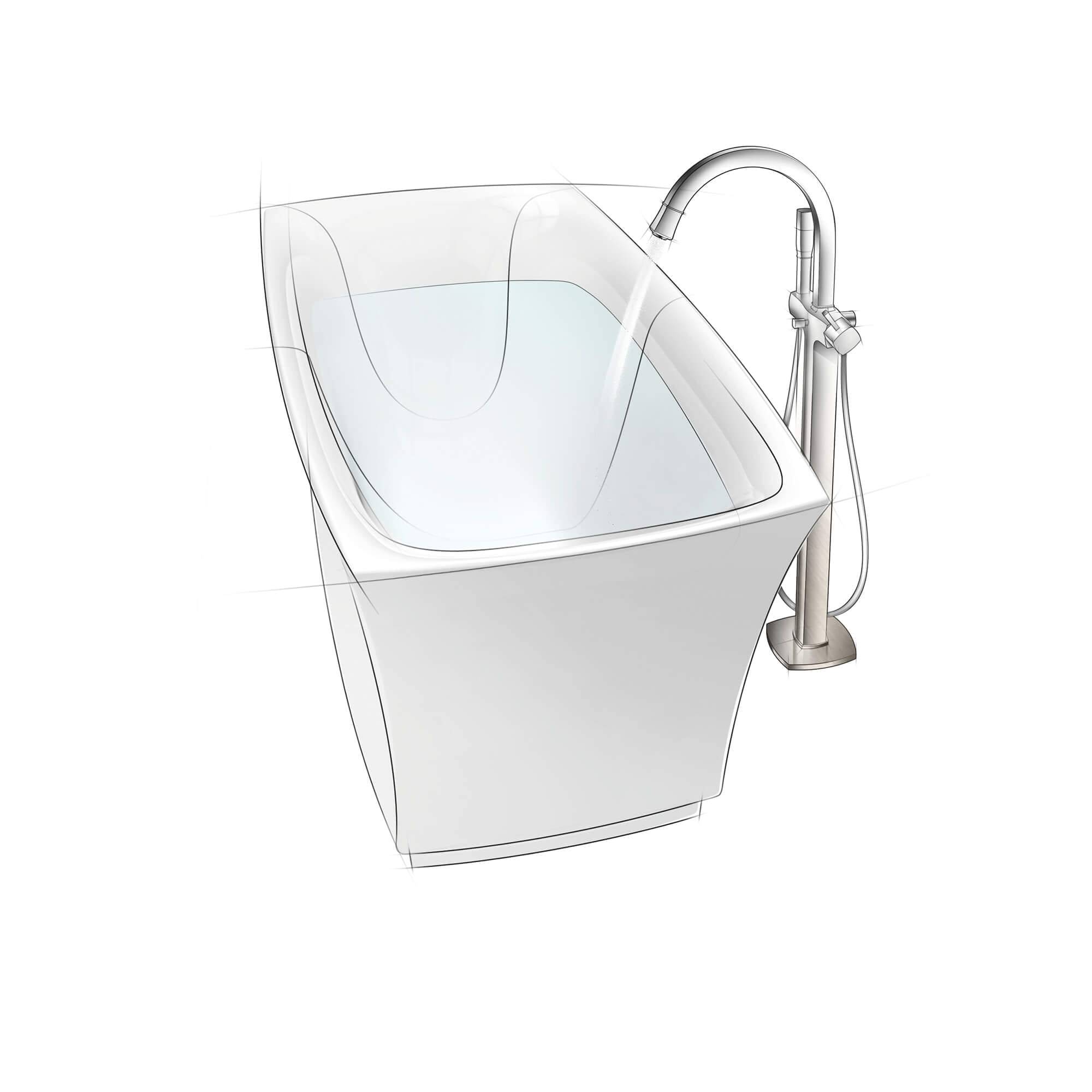 single handle freestanding tub faucet with 7 6 l min 2 0 gpm hand shower