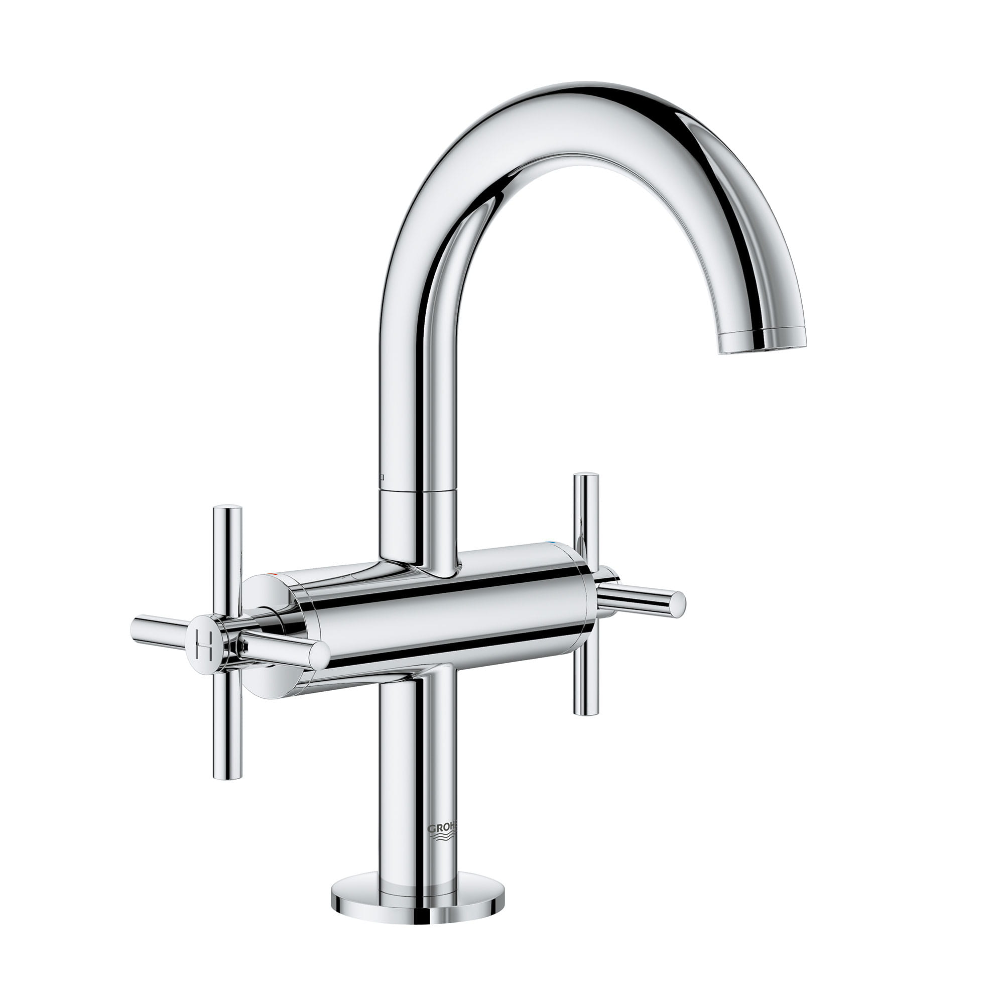 single hole two handle m size bathroom faucet 1 2 gpm