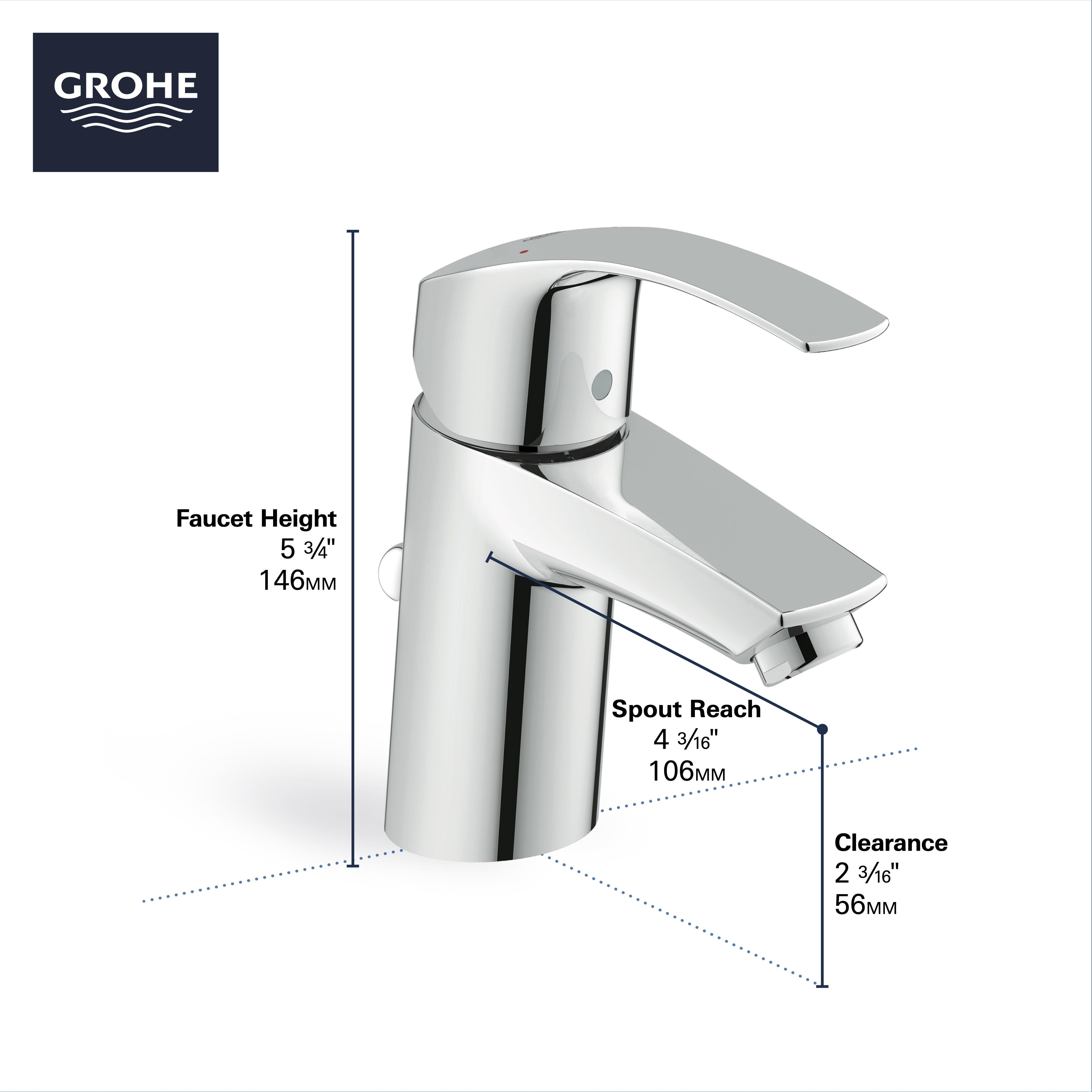 single hole single handle s size bathroom faucet 1 2 gpm