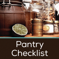 Pantry Checklist Button