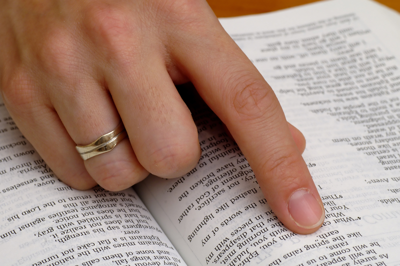 Hand on Bible-dreamstime