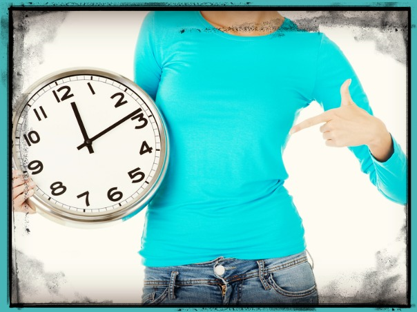 Mom Pointing to Clock