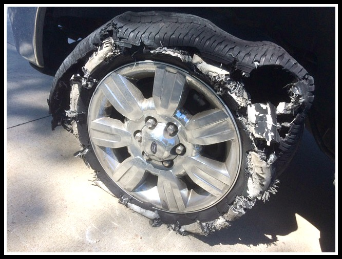Blown Out Tire1