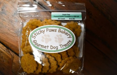 CBD Dog Treats from Sticky Paws Bakery