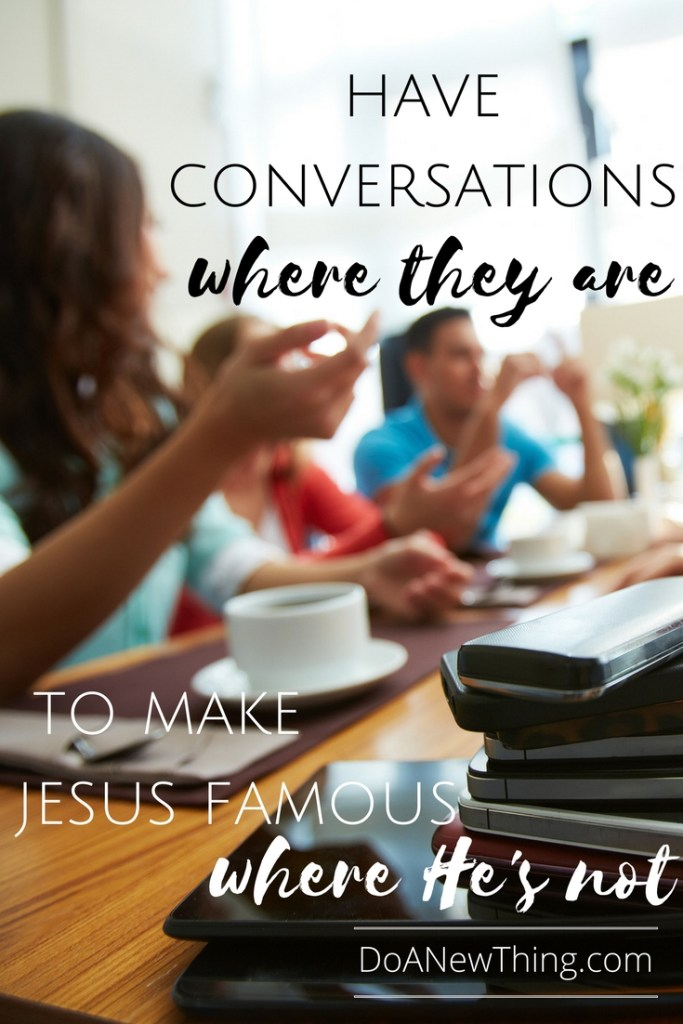 Highlighting our positive content, engaging in encouraging conversation and putting Jesus above our platform shines light into that darkness.