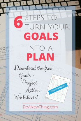 Without a plan, we'll be setting the exact same goal this time next year. None of us want that, so here are six tips to turn your goals into plans and actions. #goals #projects #actions