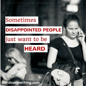 disappointed people