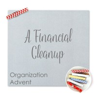 Organization Advent:  A Financial Cleanup