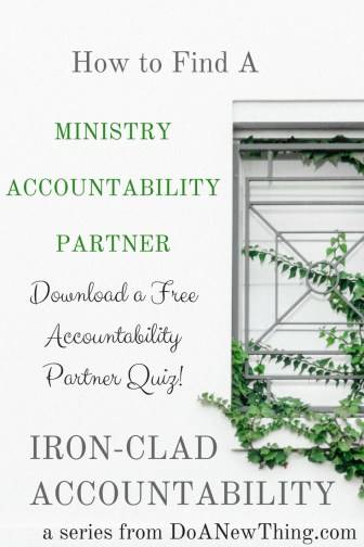 Take this FREE quiz to determine what type of Accountability Partner you need!