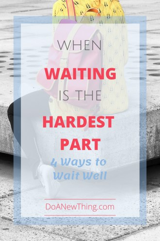Your legacy may depend on how well you wait on God. No matter what vision of the future God has given you, wait for it.