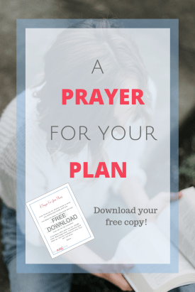 Offer this prayer for your plan and allow God to bless or change it.