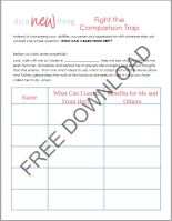 Compare Yourself to Others worksheet