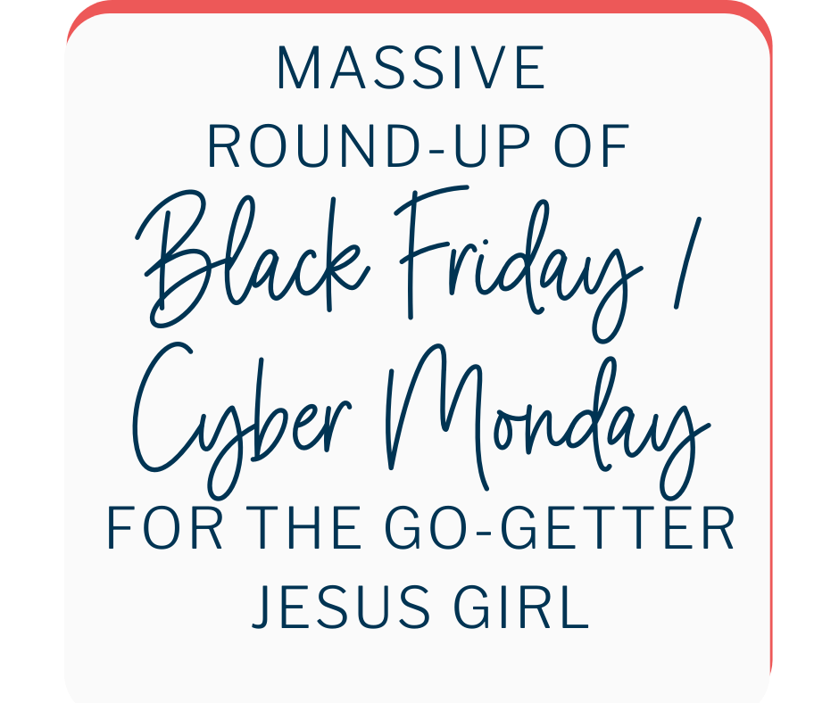 All the best Black Friday deals for the Christian writer, leader or entrepreneur!