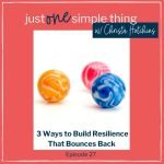 Episode 27: 3 Ways to Build Resilience That Bounces Back