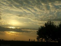 scattered sunset