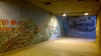 Najlepši deo satanice. Mural u prolazu do perona 2 i 3