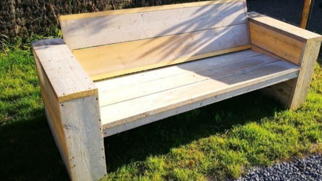 plan de construction banc de jardin
