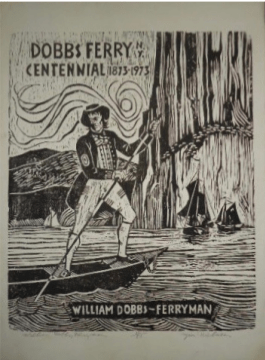 William Dobbs, Ferryman - woodcut by Jon Nielsen