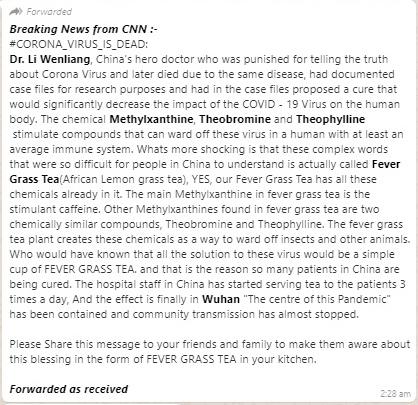 Corona virus cures