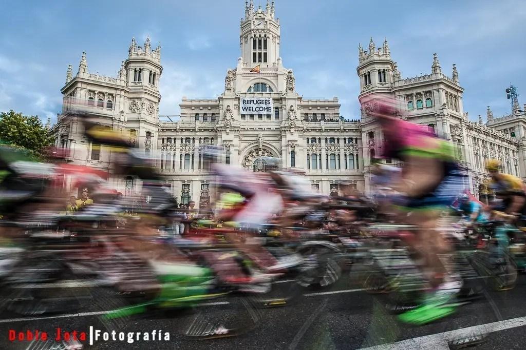 La vuelta Ciclista a España 2015 en Cibeles (Madrid)