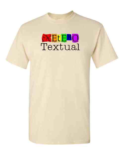 heterotextual t-shirt (natural)