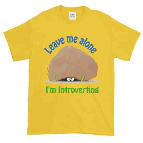 Leave Me Alone I'm Introverting T-Shirt (daisy)