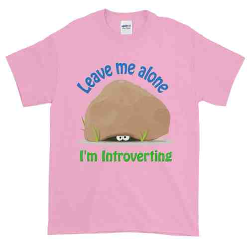 Leave Me Alone I'm Introverting T-Shirt (pink)