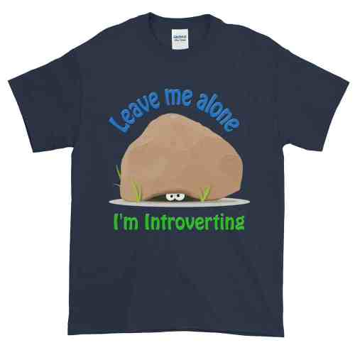 Leave Me Alone I'm Introverting T-Shirt (navy)
