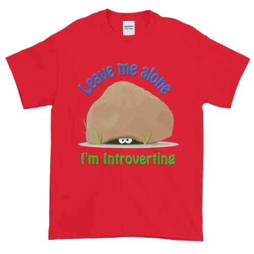 Leave Me Alone I'm Introverting T-Shirt (red)