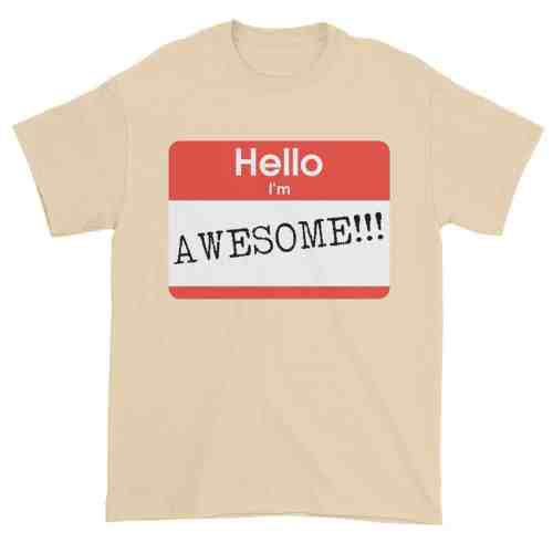 Hello, I'm Awesome T-Shirt (natural)