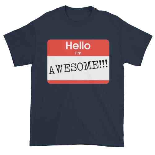 Hello, I'm Awesome T-Shirt (navy)