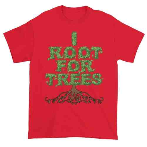 I Root for Trees T-Shirt (red)