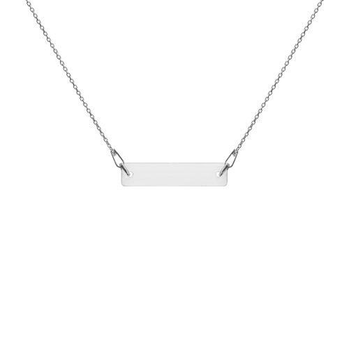 White rhodium sterling silver bar chain necklace