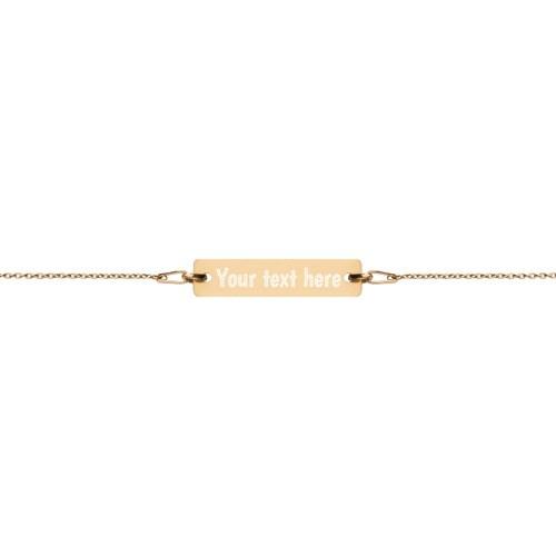 24k yellow gold bar chain bracelet
