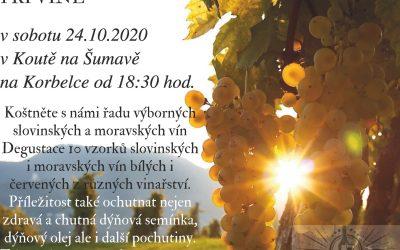Pozvánka na ochutnávku vína