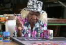 Powiew świeżości w świecie sztuki. USA wyraża swoje uznanie dla prac 105-letniej artystki, australijskiej Aborygenki, Loongkoonan