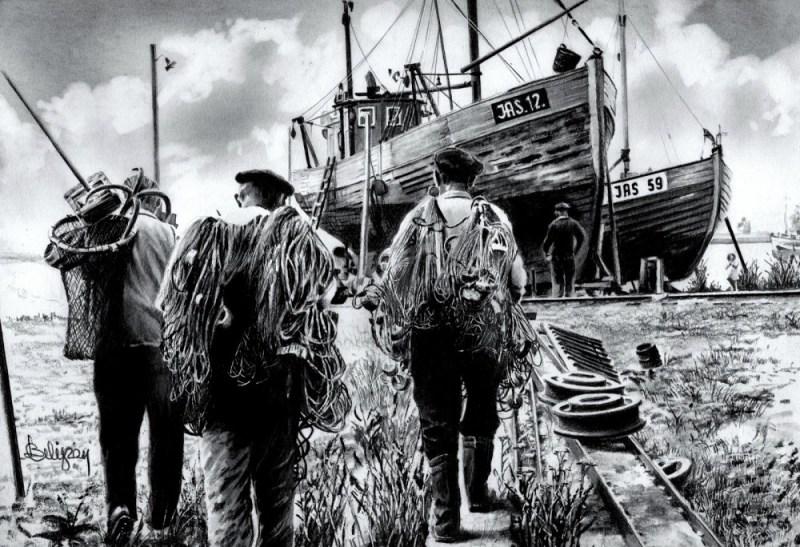 Rybacy z Jastarni.