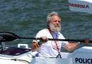 Aleksander Doba na finiszu wyprawy transatlantyckiej