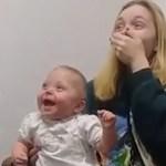 Dziewczynka po raz pierwszy słyszy swoją rodzinę