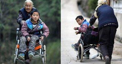 Codziennie pokonuje 24 kilometry, by odprowadzić niepełnosprawnego wnuka do szkoły