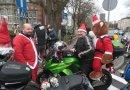 Motocykliści w strojach Mikołaja odwiedzili dzieci w szpitalu w Zdrojach