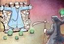 29 inspirujących Ilustracji irańskiego artysty, obrazujących rzeczywistość lekarzy i innych służb w walce z koronawirusem