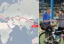 Brytyjczyk kupił rower w Chinach i wrócił na nim do Anglii