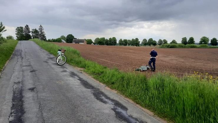 pożyczonym rowerem dogonił uciekającego